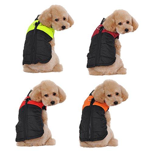 Ancdream Winter Warm Pet Hund Kleidung klein Wasserdichte Hundemantel Jacke Winter Gesteppt Gepolstert Puffer Pet - Hunde Kleine Winter Für Pet-kleidung