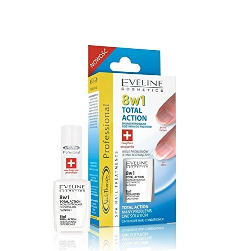 Eveline Cosmetics Nageltherapie 8-in-1 Total Action Nagelhärter, 12 ml, Doppelpack