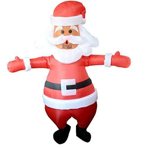 GaLon Erwachsene aufblasbare Kleidung, Weihnachten Außendekoration Sankt-Schneemann Inflatable Kleidung Parenting Aktivität Jahrestagung Leistung Partei-Kostüm-Karneval-Kleid-Partei-Partei Cosplay Pro