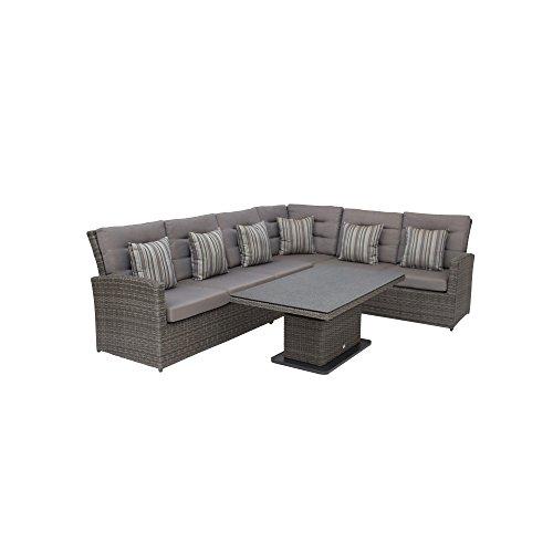Siena Garden Lounge Set, Porto, grau, 90x140x94 cm, 227127