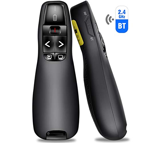 BEBONCOOL Presenter mit Bluetooth und USB-Verbindung, 2.4GHz Wireless Presenter Presentation Remote PowerPoint Fernbedienung Präsentation für PPT/Keynote/Prezi/OpenOffice/Windows/Mac OS/Linux/Android