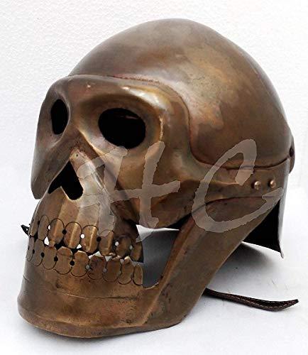 Historicalmuseum Mittelalterliches Skelett Rüstungshelm Wikinger Maske Brille Römische Ritter Helme