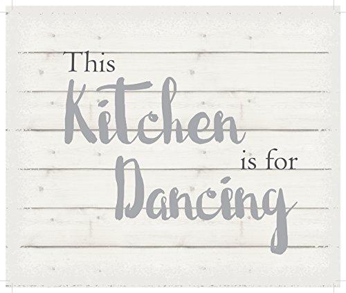 Lichterkette Company dieses Küche ist für dancing-white Hintergrund Wand aufhängen, 25,4x 30,5cm