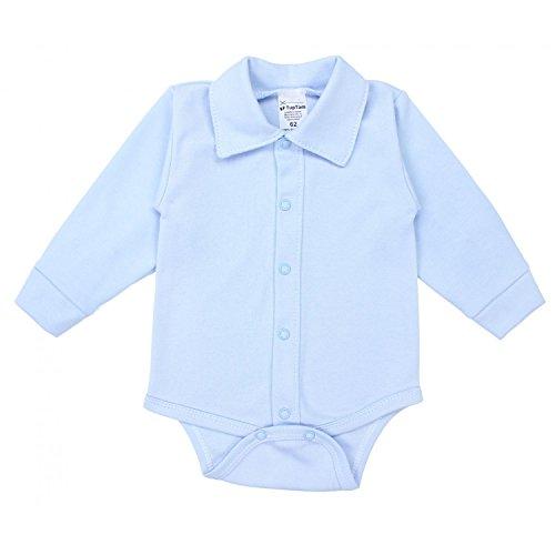 TupTam Baby Jungen Langarmbody mit Kragen, Farbe: Blau, Größe: 68