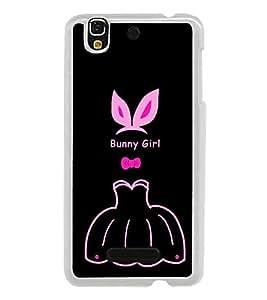 Bunny Girl 2D Hard Polycarbonate Designer Back Case Cover for YU Yureka :: YU Yureka AO5510