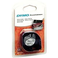 Dymo LetraTag etichette multiuso autoadesivo in plastica, rotolo da 12 mm x 4 m, stampa nera su argento metallico, S0721750 -  Confronta prezzi e modelli