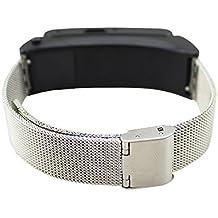 FindaGift Huawei TalkBand B2 Band, correa de reloj de pulsera de repuesto de acero inoxidable para Huawei TalkBand B2 - plata
