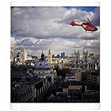 Photo Mug of London air ambulance over Westminster, London, England, United Kingdom, Europe