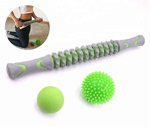 Bafeat Pro | Rodillo masaje muscular palo 2 pelotas