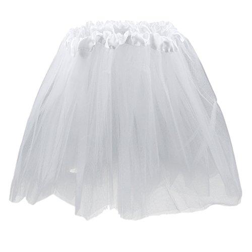Mädchen Tutu (Mädchen Kinder Lila 3-Schicht Tutu Prinzessin Minirock Sommerparty Tanzkleider -)
