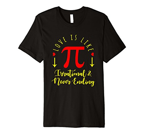 Funny Love ist wie PI T-shirt Math National -