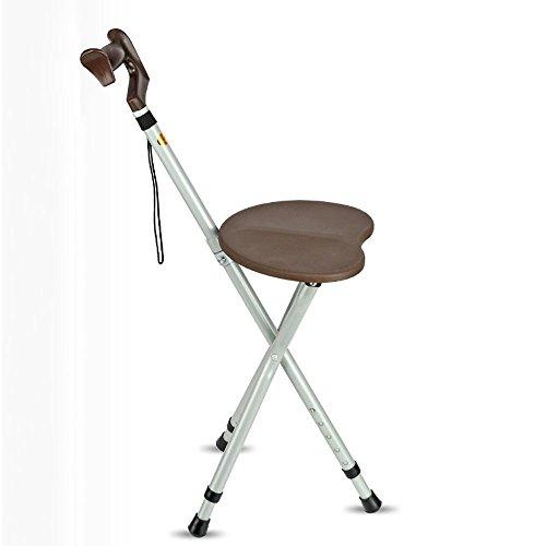 KKLL Old Man Crutches Hocker Dreibeiniger Collapsible Walker Creative Cane Hocker (2 Farben optional) (Farbe: Braun) -