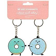 Mr. Wonderful WOA03825EN Set de 2 Llaveros We Are Donuts About Each Other, Compuesto, Multicolor, 0.2x13x10 cm