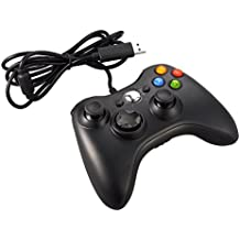 Xbox 360 Controlador de Gamepad, JAMSWALL Mando para PC Windows XP/7/8/10 (Negro)