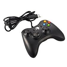 JAMSWALL Manette filaire Xbox 360 Filaire GamePad Controller Manette du Contrôleur de Jeu Filaire Pour PC / Android / TV Box (Noir)