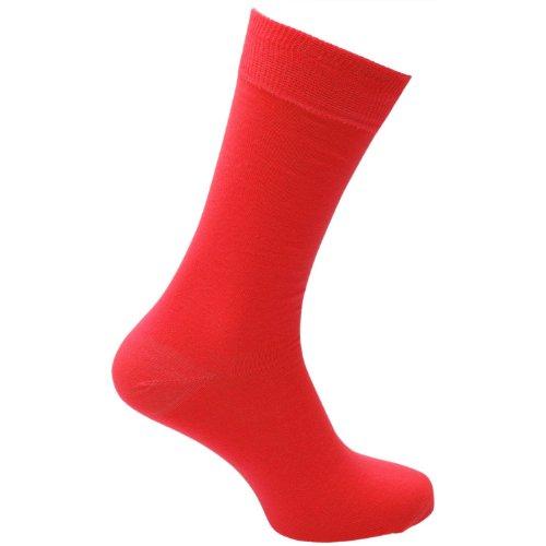 en Socken, Einfarbig Rot Rot (80er Jahre Mens Style)