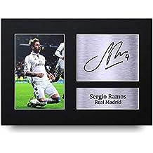 b89fbcffeecd8 Sergio Ramos Los Regalos Firmaron A4 la Dedicatoria Impresa Real Madrid La  Foto de Impresión Imagina