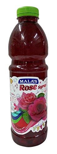 Mala's Rose Syrup, 1000ml Bottle