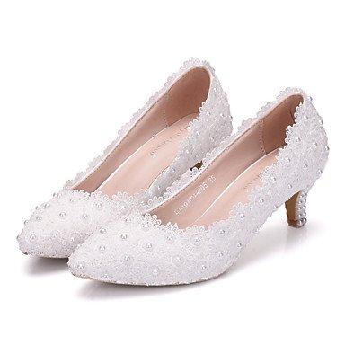 Wuyulunbi@ Scarpe donna vera stagione tutti i comfort Novità scarpe matrimonio punta per la festa di nozze & sera Rosa Bianco US9 / EU40 / UK7 / CN41