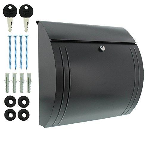 BURG-WÄCHTER, Briefkasten mit Öffnungsstopp, A4 Einwurf-Format, Verzinkter Stahl, Modena 857 ANT, Anthrazit - 6