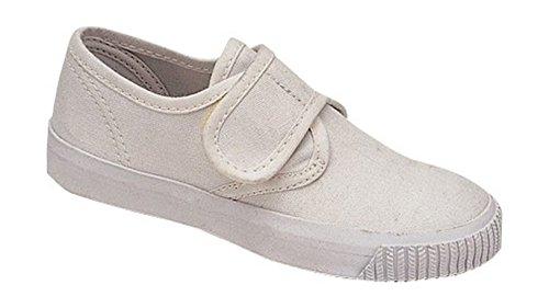 Mirak Girls 99248 Velcro Fastening Plimsoll Sneaker Trainer White (Med)