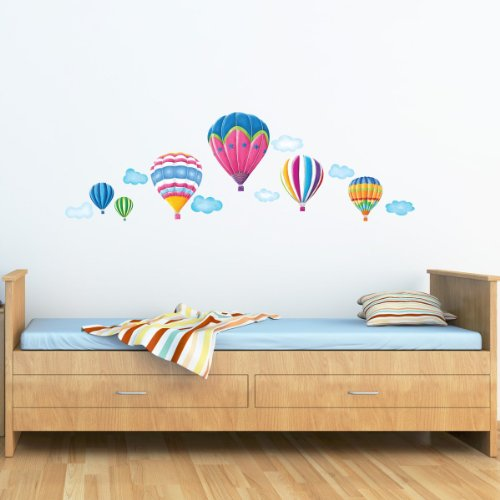 Decowall-DW-1301AC-6-Globos-Aerostticos-en-el-Cielo-Vinilo-Pegatinas-Decorativas-Adhesiva-Pared-Dormitorio-Saln-Guardera-Habitacin-Infantiles-Nios-Bebs