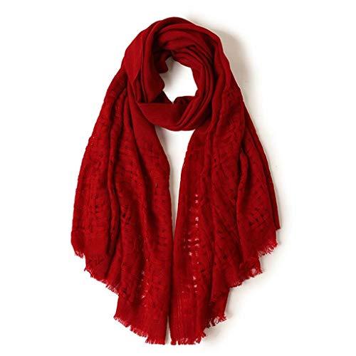 Suflang sciarpa for le donne morbida sciarpa calda signora scarf elegant scialle rosso, regalo di ringraziamento regalo di giorno di natale di san valentino perfetto, 200x70cm