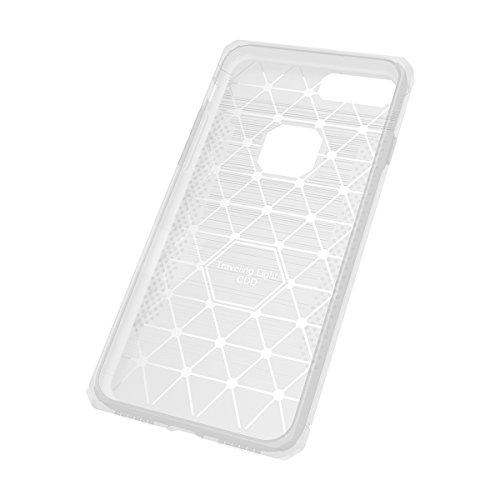 iPhone 6/6s Caso In fibra di carbonio manicotto protettivo in gomma morbida di TPU moda manicotto protettivo è molto sottile (antigraffio) per liPhone 6/6s caso (Nero) Bianco