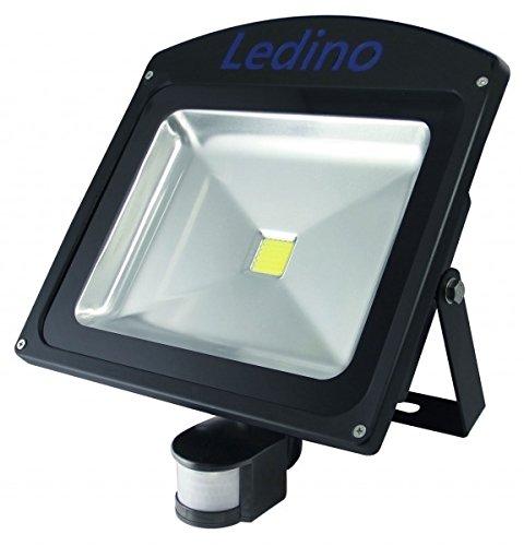 Ledino Ledisis High Power LED-Flutlichtstrahler, IR-Sensor, 50 W, Gehäusefarbe: Schwarz | Lichtfarbe: Warmweiß