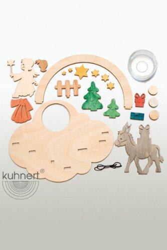 kuhnert-hobaku-6-x-13-x-9-centimeters-do-it-yourself-angel-tea-light-holder-kit
