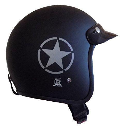 Anokhe Collections Men's ISI Certified Guardian Open Face Helmet, Large (Jet Black)