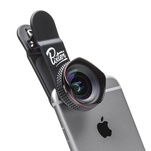 1. Pixter Objectif Smartphone Grand Angle Pro 0,5X, Compatible Tout Smartphone, Android et iOS : iPhone / Samsung / Huawei / Sony / Honor / OnePlus