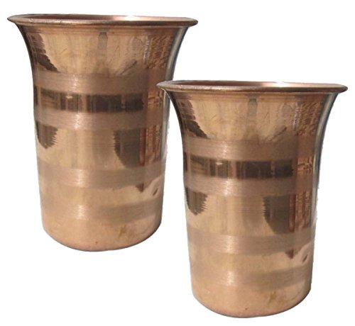 Asia Craft puro rame argento Touch di acqua della shell della Tumbler, confezione da  pezzi