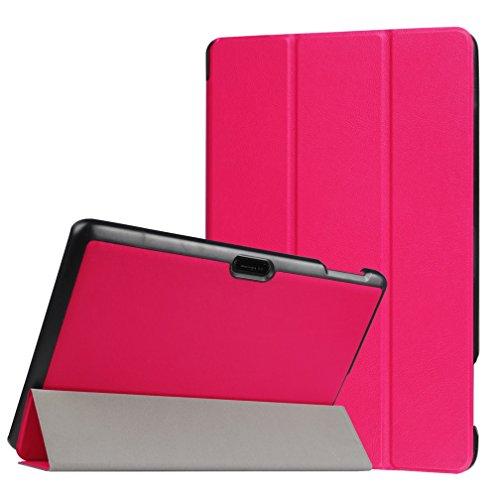 Lindo búho para Tablet de 10, diseño Universal funda de cuero tipo libro para Magic funda de piel Para 10'10Inch Android Tablet (Dragon Touch X10Tablet de 10.6pulgadas/Lenovo Tab 2A10–70F Tablet/10.1Fusion5104GPS Tablet/NeoCore B110.1Pulgadas Tablet/10.1' pulgadas Quad Core Tablet/Lenovo Tab 2A10Tablet de 10pulgadas) funda protectora funda (búho siempre Love you) &Pink