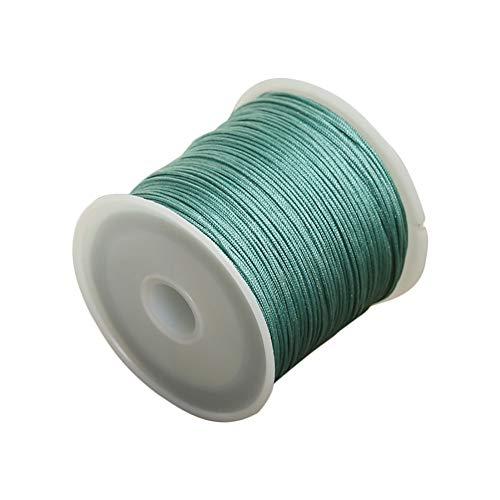 Da.Wa 1x Cuerda Encerada Cuerdas Nylon Verde DIY Artesanía50m