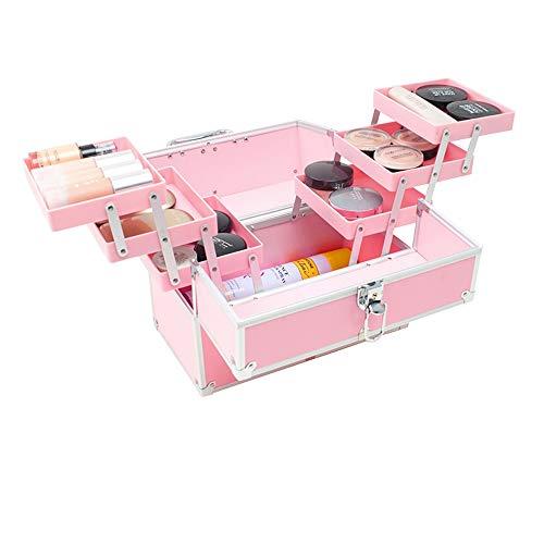 Xiao Jian--Die täglichen Erfordernisse Kosmetische Box Aufbewahrungsbox Professionelle Make-up Aufbewahrungstasche Tragbare Nagel Tool Kit Große mehrschichtige Kosmetische ()