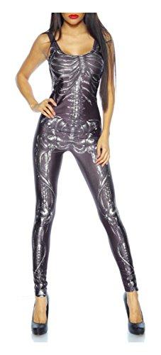 Skelett-Overall / Jumpsuit von luxury & good Dessous One Size (Kostüme Frauen Sexy Skelett)