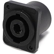 Cablematic - Conector speakon NL4 4polos hembra chapa plástico