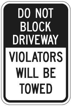 Eugene49Mor nicht Block Auffahrt Zuwiderhandlungen Wird geschleppt Zeichen 30,5x 45,7cm 3m Diamond Grade Prismatic Reflektierende Schild. von