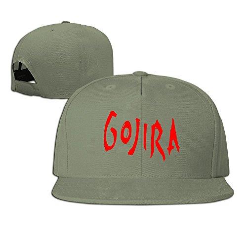 5e9288e59dbb3 HmkoLo Gojira Band Logo Cotton Flat Bill Baseball Cap Snapback Hat Unisex  ForestGreen