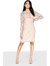 c4e7c9aa89f3 Girls On Film Womens Ladies Frill Front Lace Bodycon Dress