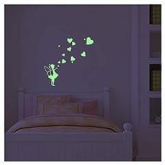 Idea Regalo - Ambiance-Live Adesivo Piccola Fata con dei Cuori Fosforescente-25x 20cm