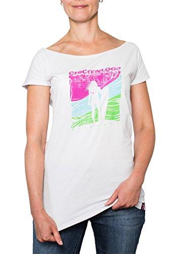 CHICKENDICK KITESURF CHICKENLOOP Kitesurf Damen T-Shirt Weiß Kitelady (XS)