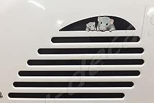 Vespa Gts 125 200 250 300 Gtv Aufkleber Für Die Hintere Rechte Seite Mit Lüftungsschlitzverlängerung Maus Familie Laminiertes Bild Auf Vespa Auto
