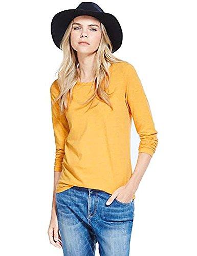 elegance1234 -  Maglia a manica lunga  - Donna Yellow