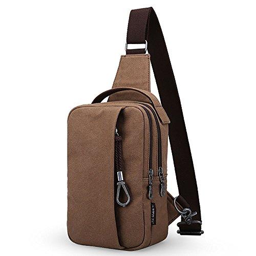 Anjcd Chest Pack Männer Messenger Bag Canvas Kleine Rucksack Mode Schultertaschen 3#
