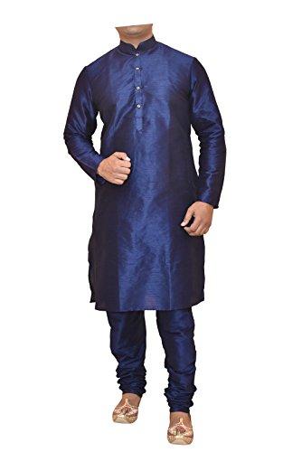 Men's Blue Dupioni Silk Kurta Pyjama,kurta pajama for men, kurta pajama for...