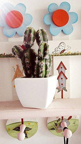 TS-nslixuan Simulation der Anlage Kaktusblüte kleinen Ornamenten schmuck Blumen bonsai kleiner Schreibtisch Kabinett dekorative Blumen, unsterbliche Spalte (Spalte Kabinett)