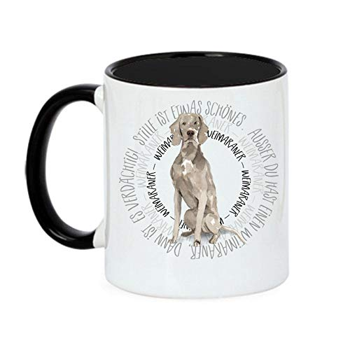 Siviwonder Tasse Circle - Weimaraner - Watercolor Dogs Hundemotiv Fun Kaffeebecher