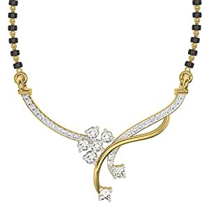 TBZ - The Original 18k (750) Yellow Gold and Diamond Mangalsutra Necklace